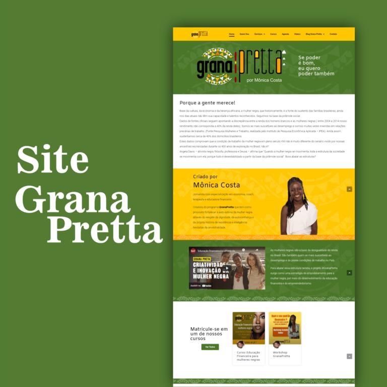 Web design profissional site grana pretta